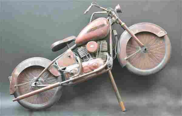 A Harley Davidson Motorcycle Weathervane