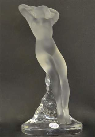 A Lalique France Glass Nude Woman