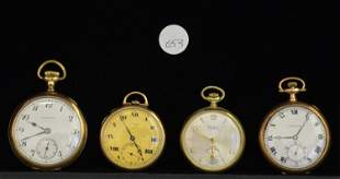 A Set of Three Gold Filled Pocket Watches