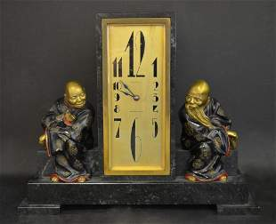 A Fine French Bronze Chinoiserie Clock