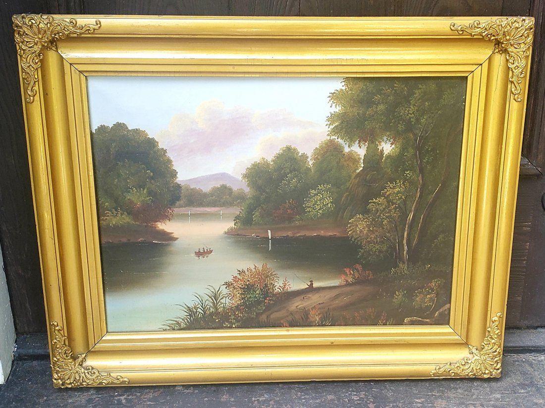 9th C. Hudson River School American Oil Painting