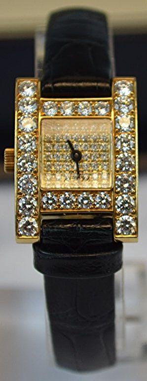 Chopard Ladies Diamond 18k Gold H Watch