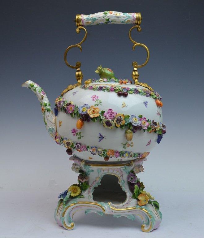 Meissen Bronze Mount Impressive Teapot