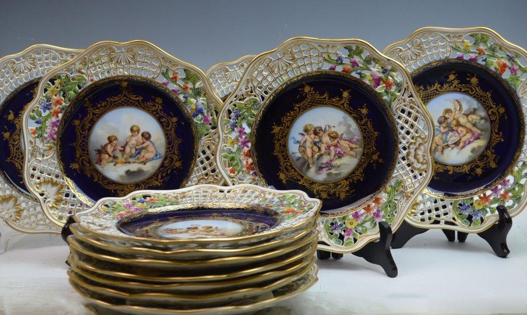 12 Royal Vienna Plates