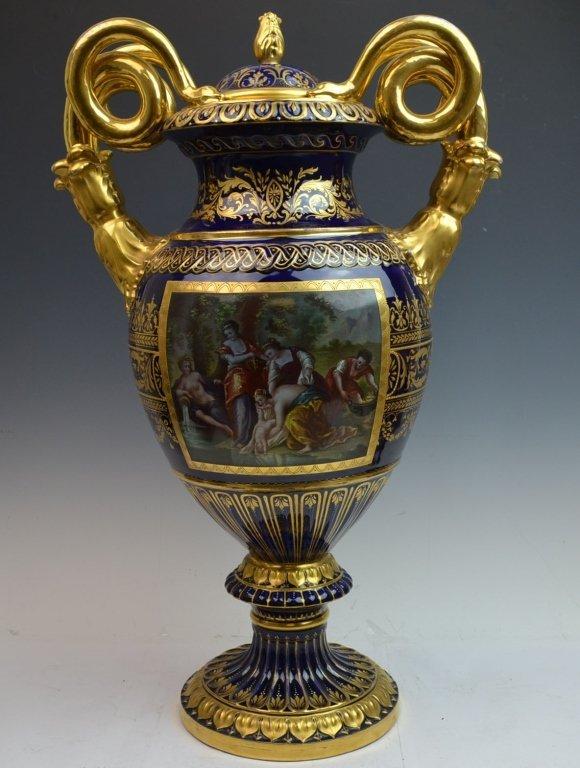 19th Century Blue Vienna Vase