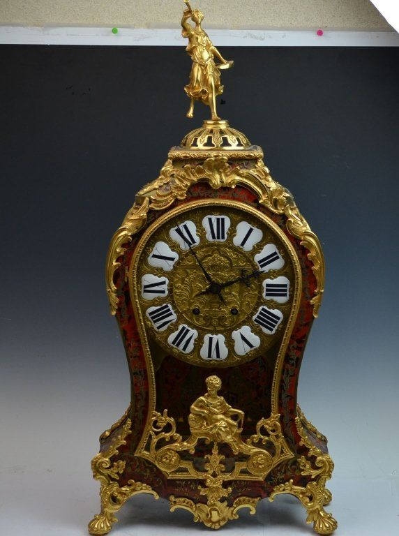 One Large French Bronze Gilt Clock