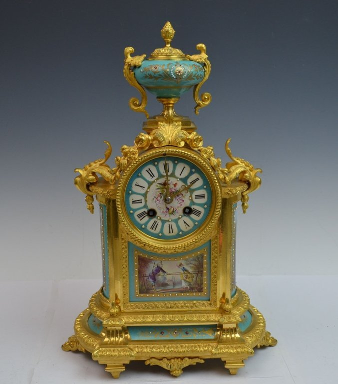 Original Gilt Sevre Bronze Clock