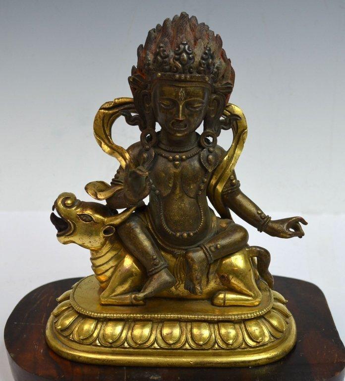 Chinese Bronze Gilt Buddha Statue