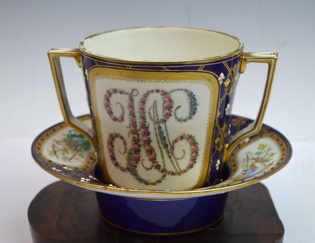 Sevre Cup & Saucer with Jewelers