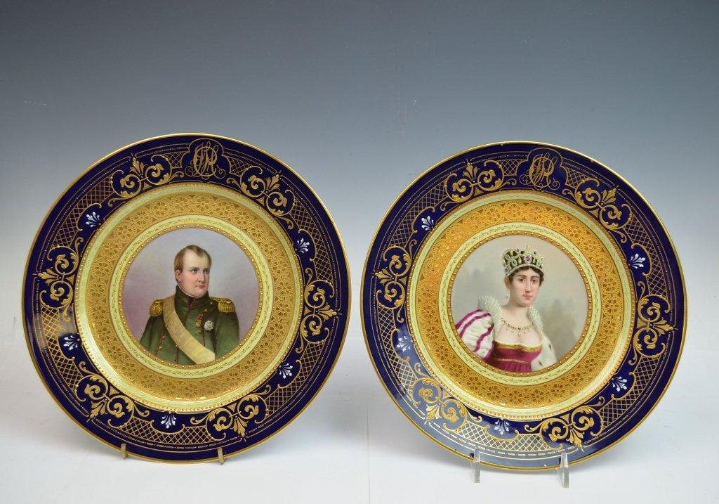Pr. of Vienna Porcelain Plates