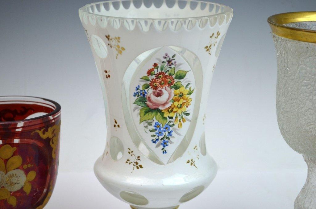 Three Bohemian Glass Goblets - 2