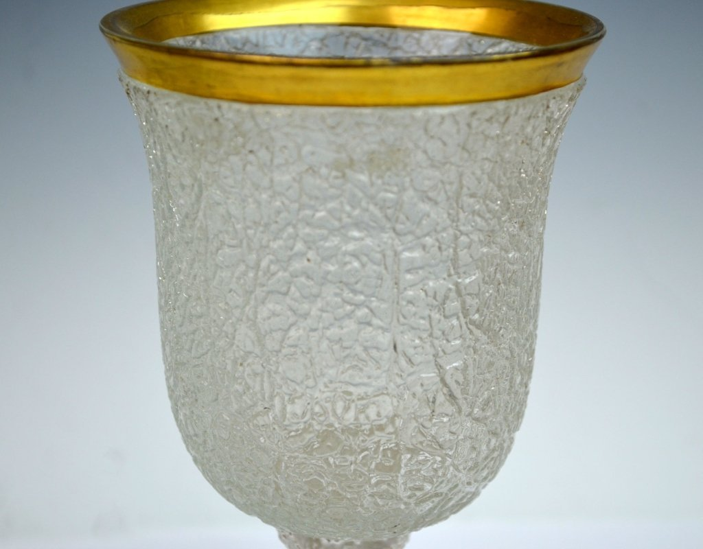 Three Bohemian Glass Goblets - 3