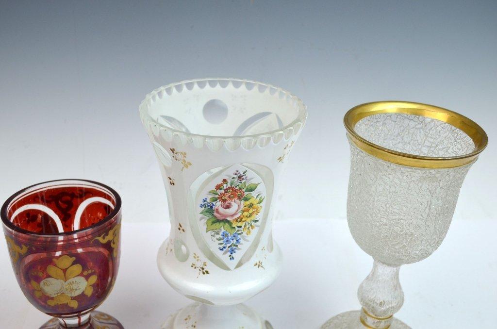 Three Bohemian Glass Goblets - 5