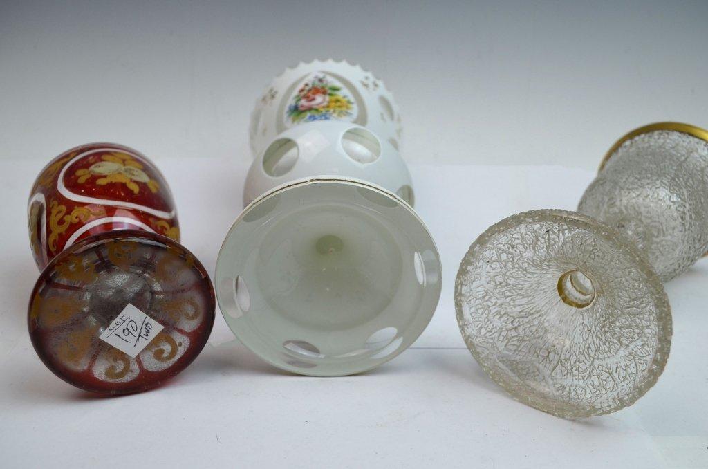 Three Bohemian Glass Goblets - 6