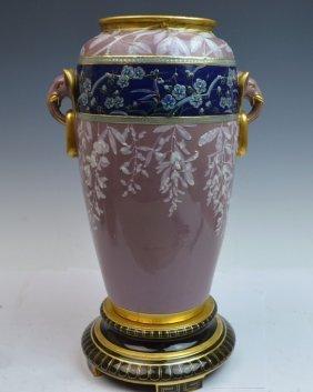 English Porcelain Pate Sur Pate Vase