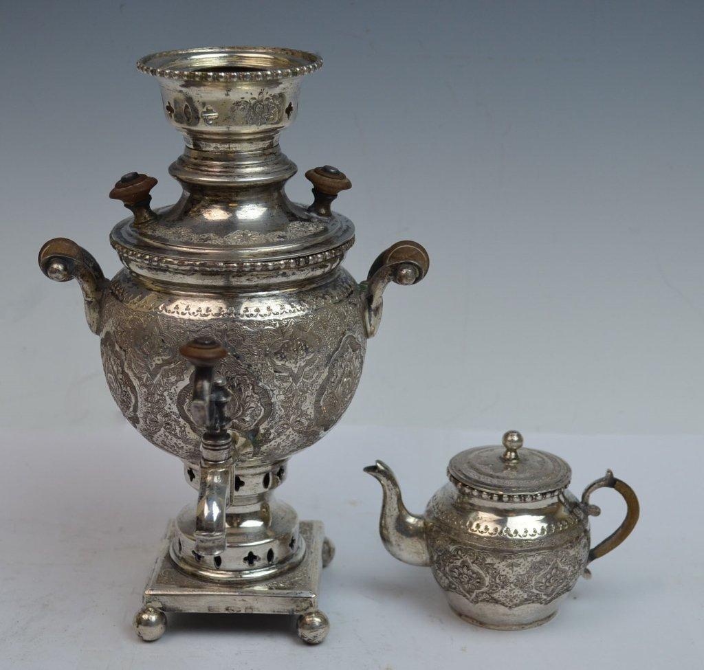 Iranian Silver SAMOVAR Teapot - 3