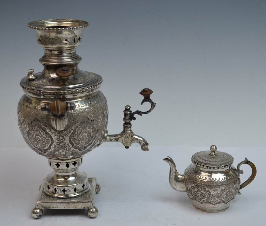 Iranian Silver SAMOVAR Teapot - 4