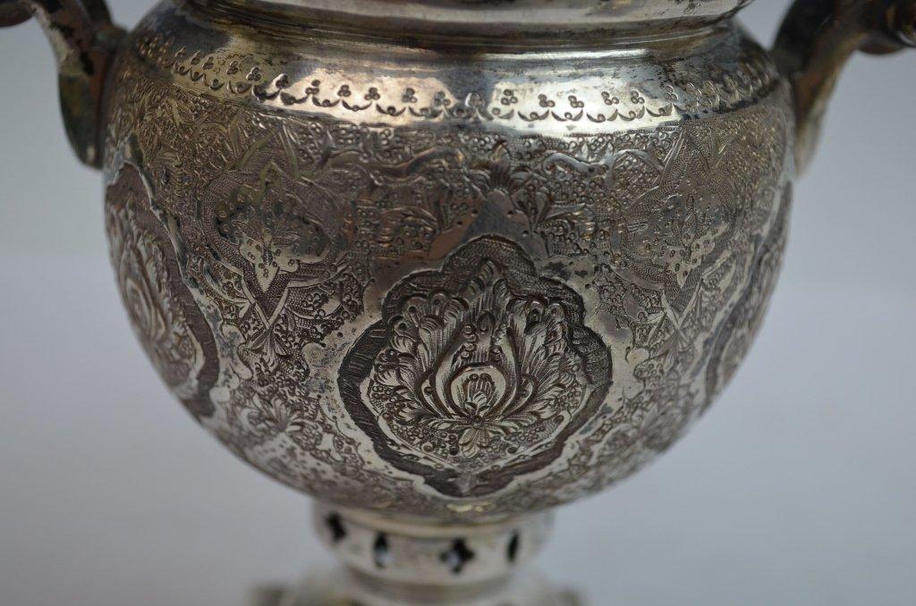 Iranian Silver SAMOVAR Teapot - 7