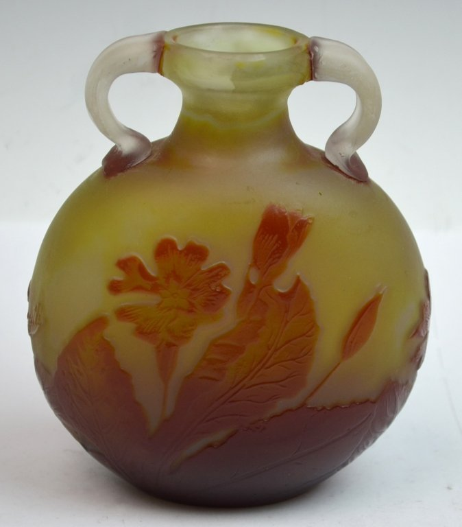 Original Galle Vase with Applied Handles