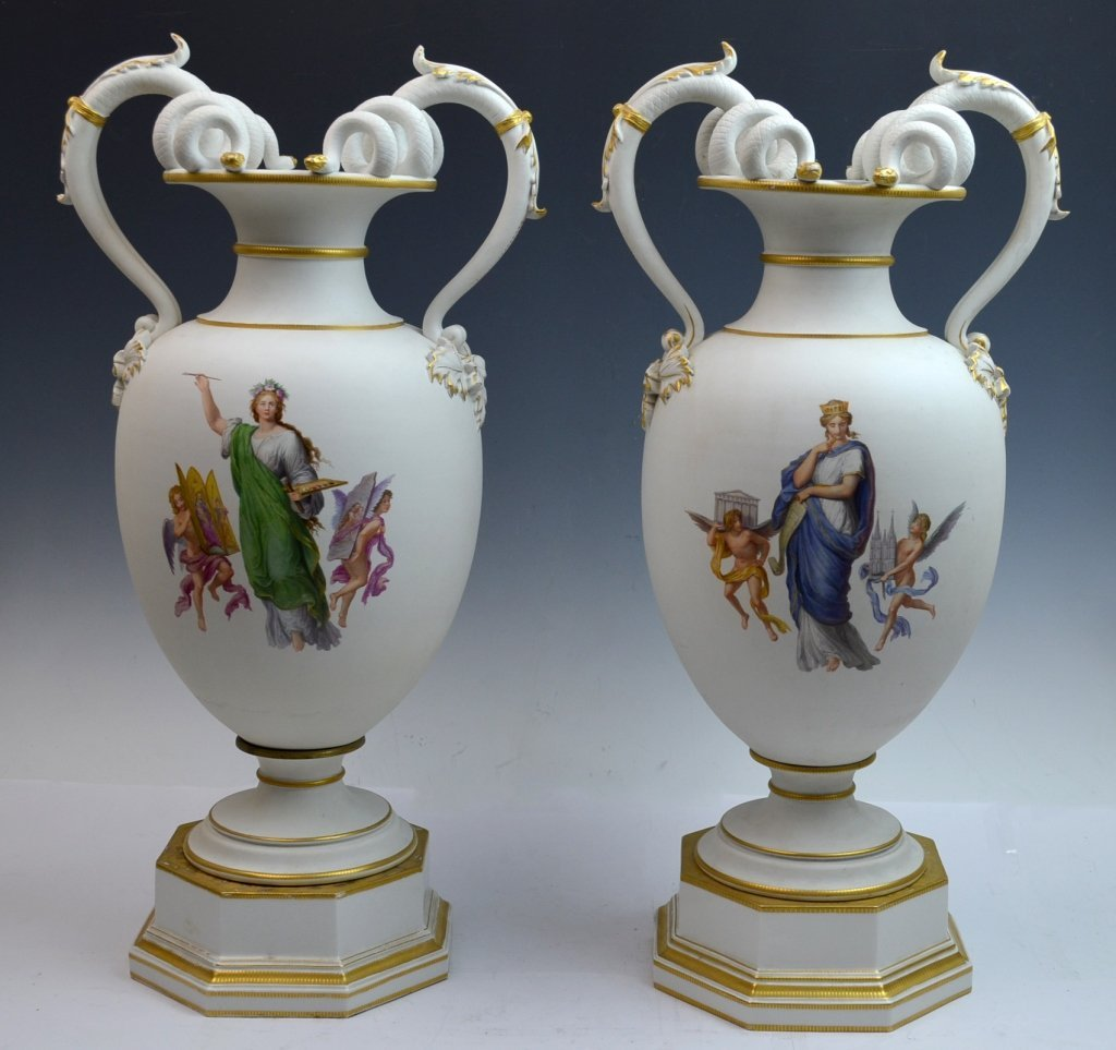 Pair of K.P.M. Vases