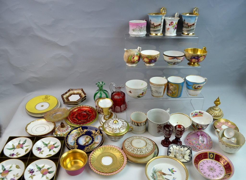 A Group of Porcelain & Glass Dinnerware Set