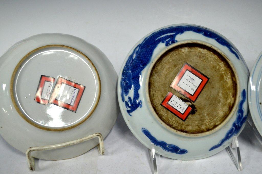 4 Chinese 18/19th Chinese B&W Porcelain Plates - 6