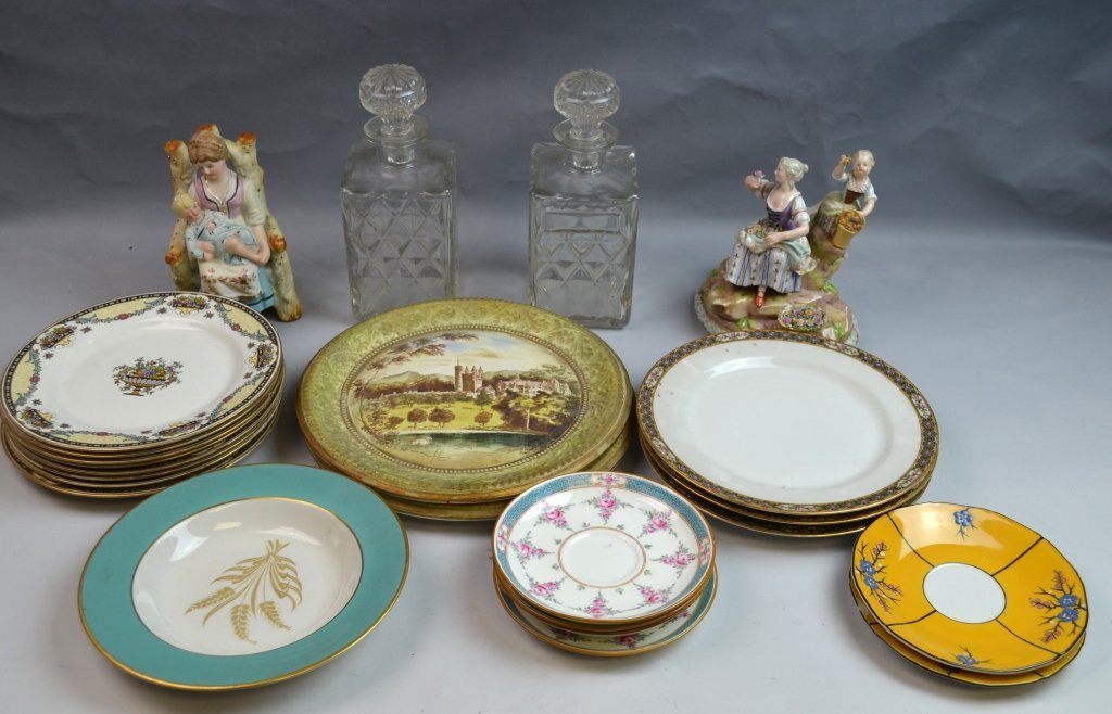A Group of Porcelain & Glass Dinnerware Set