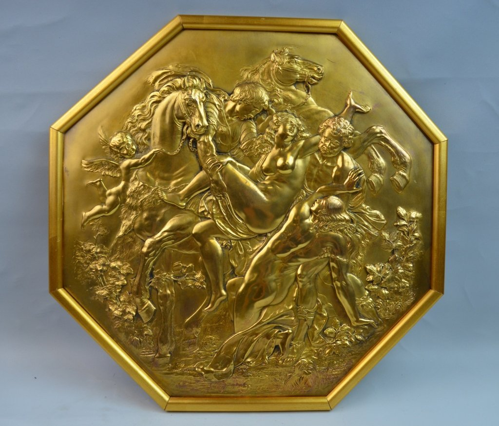 French 19th Century Bronze Plaque