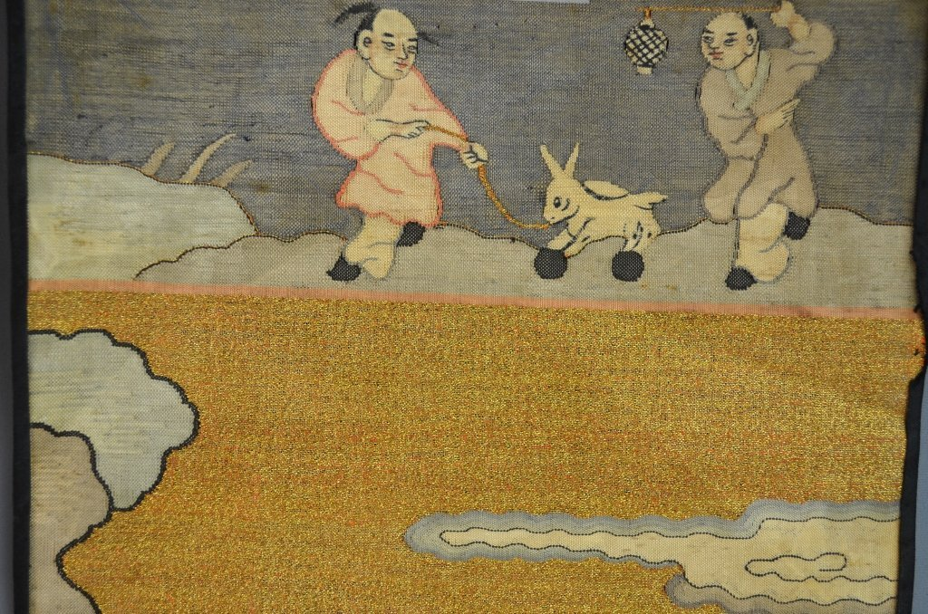 Pair of Chinese Kesi Textile - 2