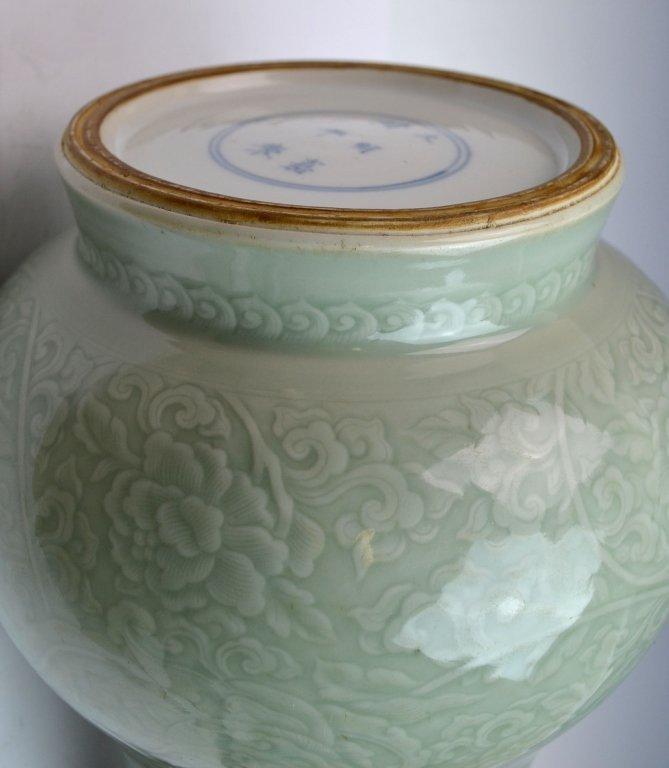 Chinese Kangxi Douqing Glazed Porcelain Zun - 10