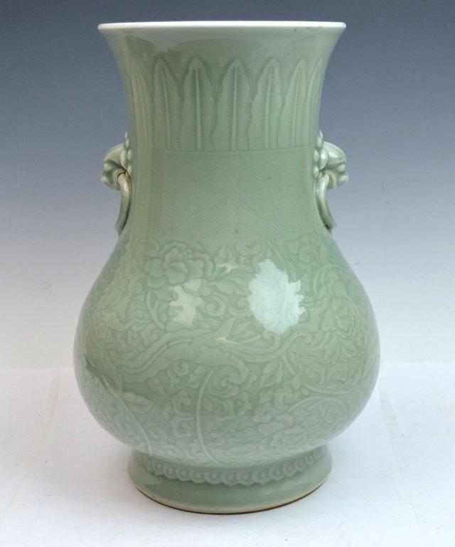 Chinese Kangxi Douqing Glazed Porcelain Zun