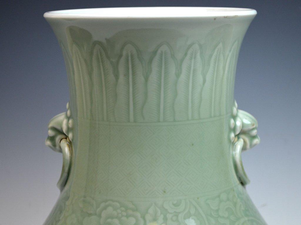 Chinese Kangxi Douqing Glazed Porcelain Zun - 2