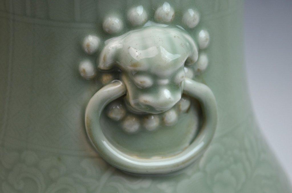 Chinese Kangxi Douqing Glazed Porcelain Zun - 4