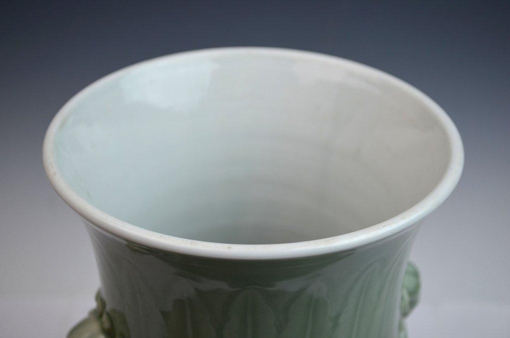 Chinese Kangxi Douqing Glazed Porcelain Zun - 5