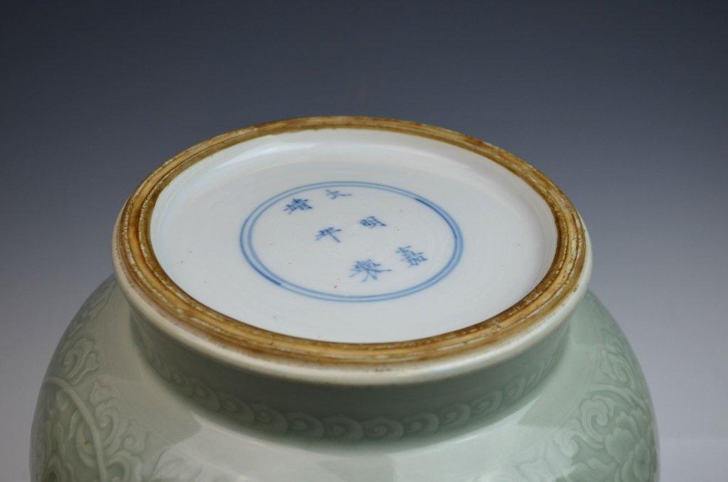 Chinese Kangxi Douqing Glazed Porcelain Zun - 6