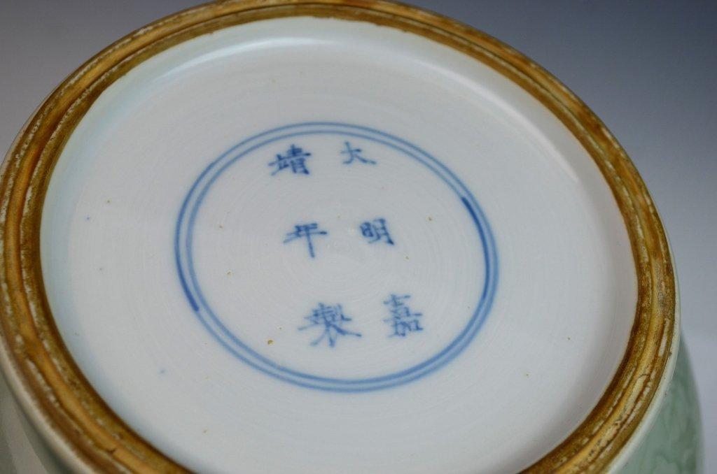 Chinese Kangxi Douqing Glazed Porcelain Zun - 7