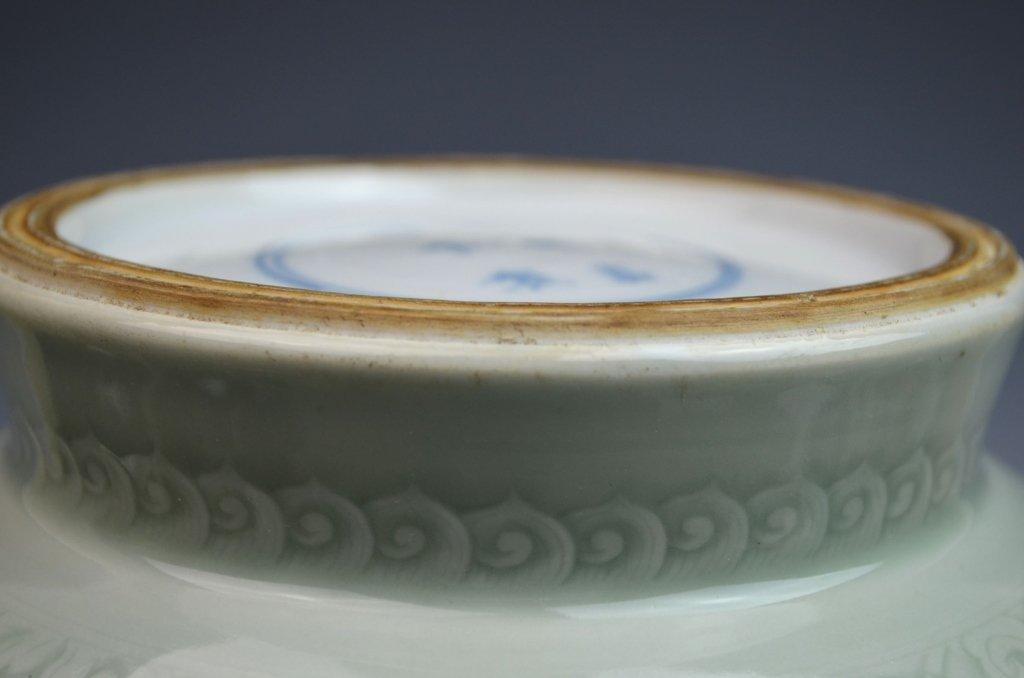 Chinese Kangxi Douqing Glazed Porcelain Zun - 8