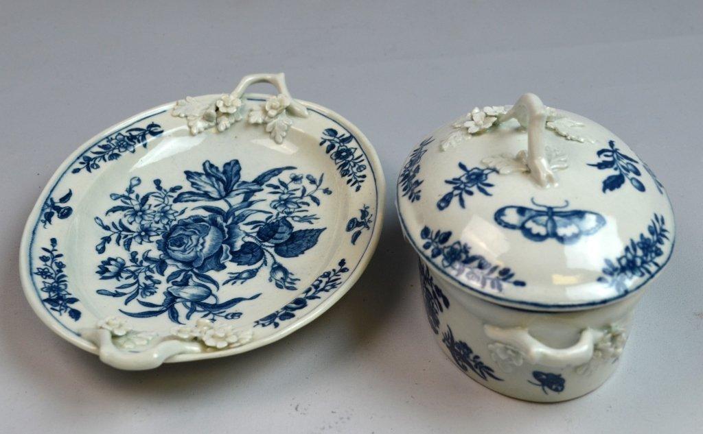 18th C Worcester Porcelain Blue & White Porcelain - 2