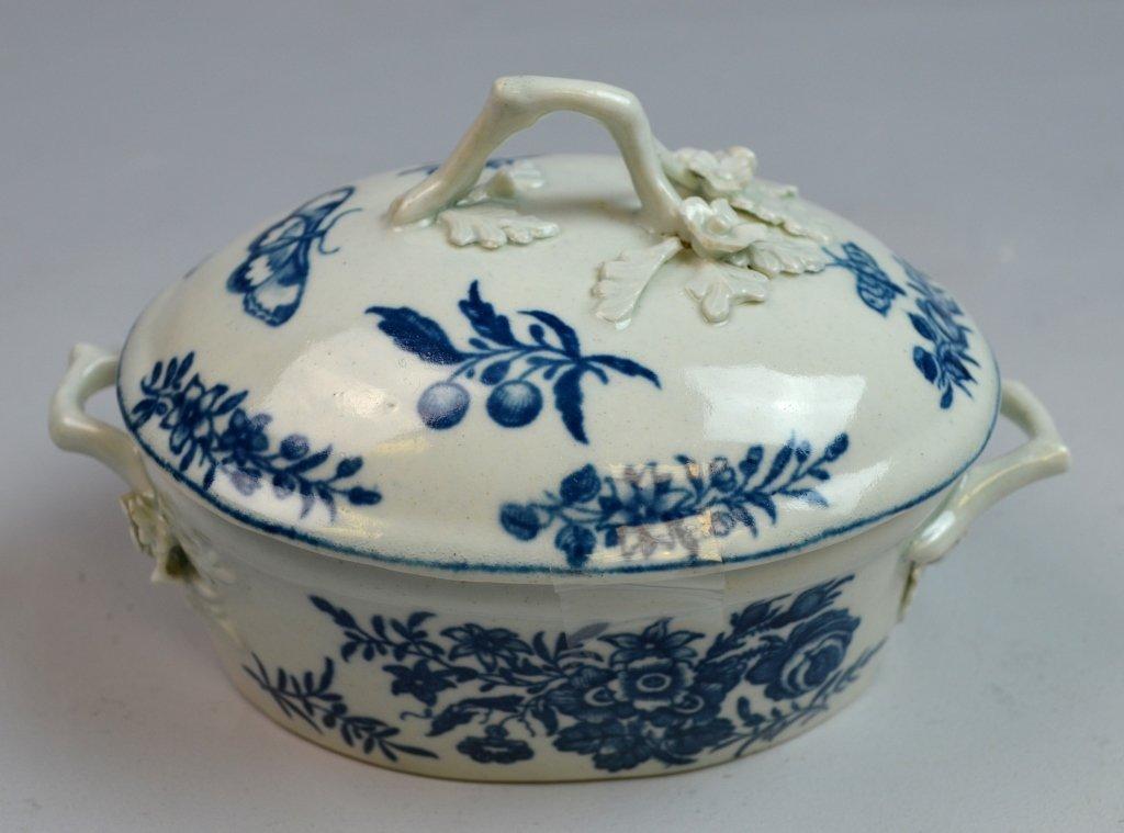 18th C Worcester Porcelain Blue & White Porcelain - 5
