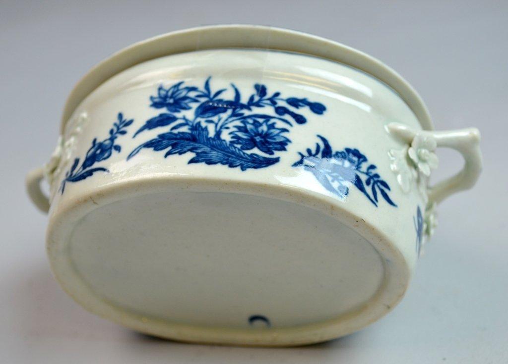 18th C Worcester Porcelain Blue & White Porcelain - 6