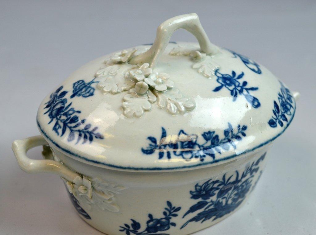 18th C Worcester Porcelain Blue & White Porcelain - 8