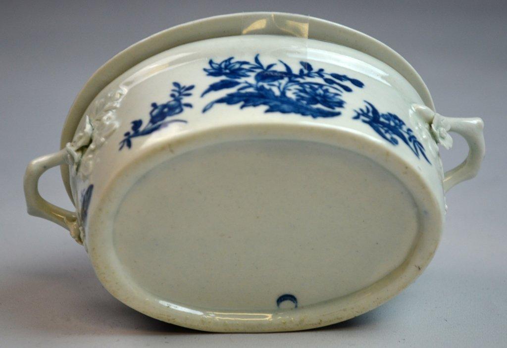 18th C Worcester Porcelain Blue & White Porcelain - 9