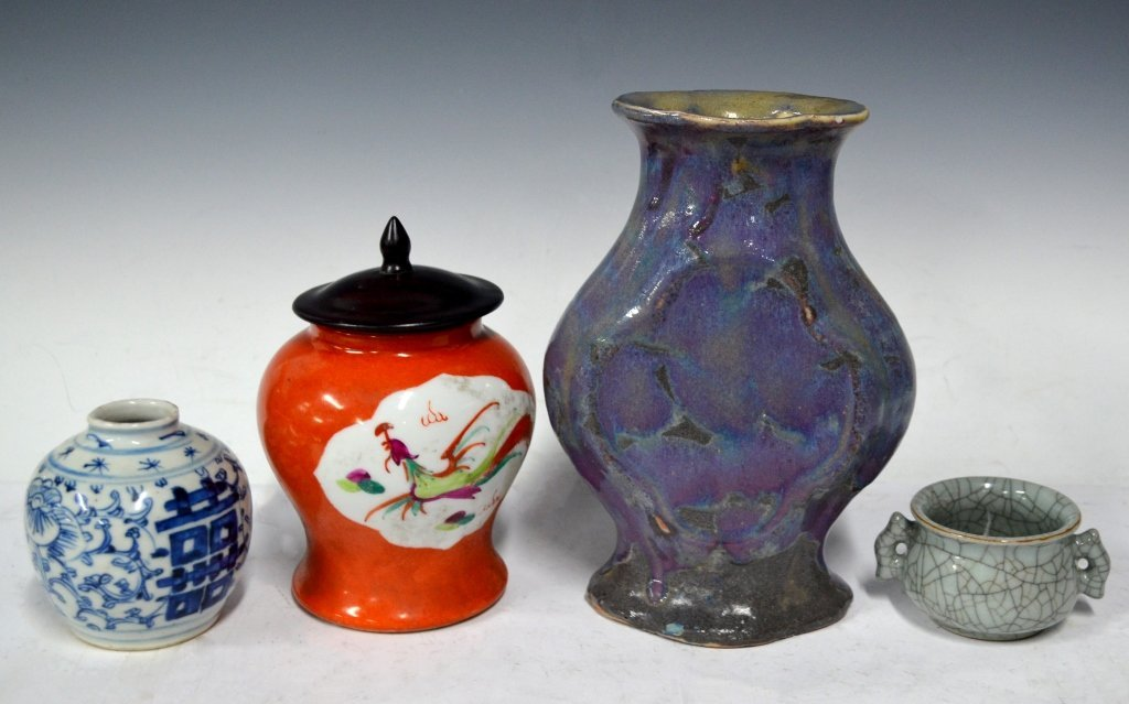 Four Chinese 18/19th Century Porcelain Items