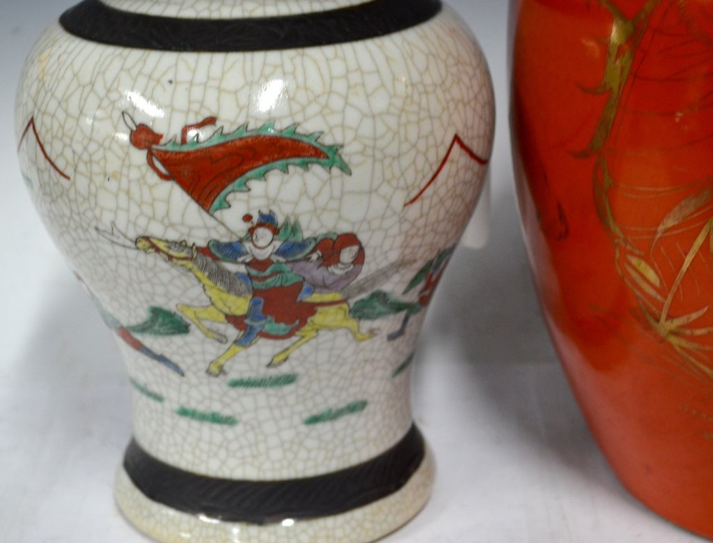 Two Chinese 19th C. Porcelain Jar with Covers - 3