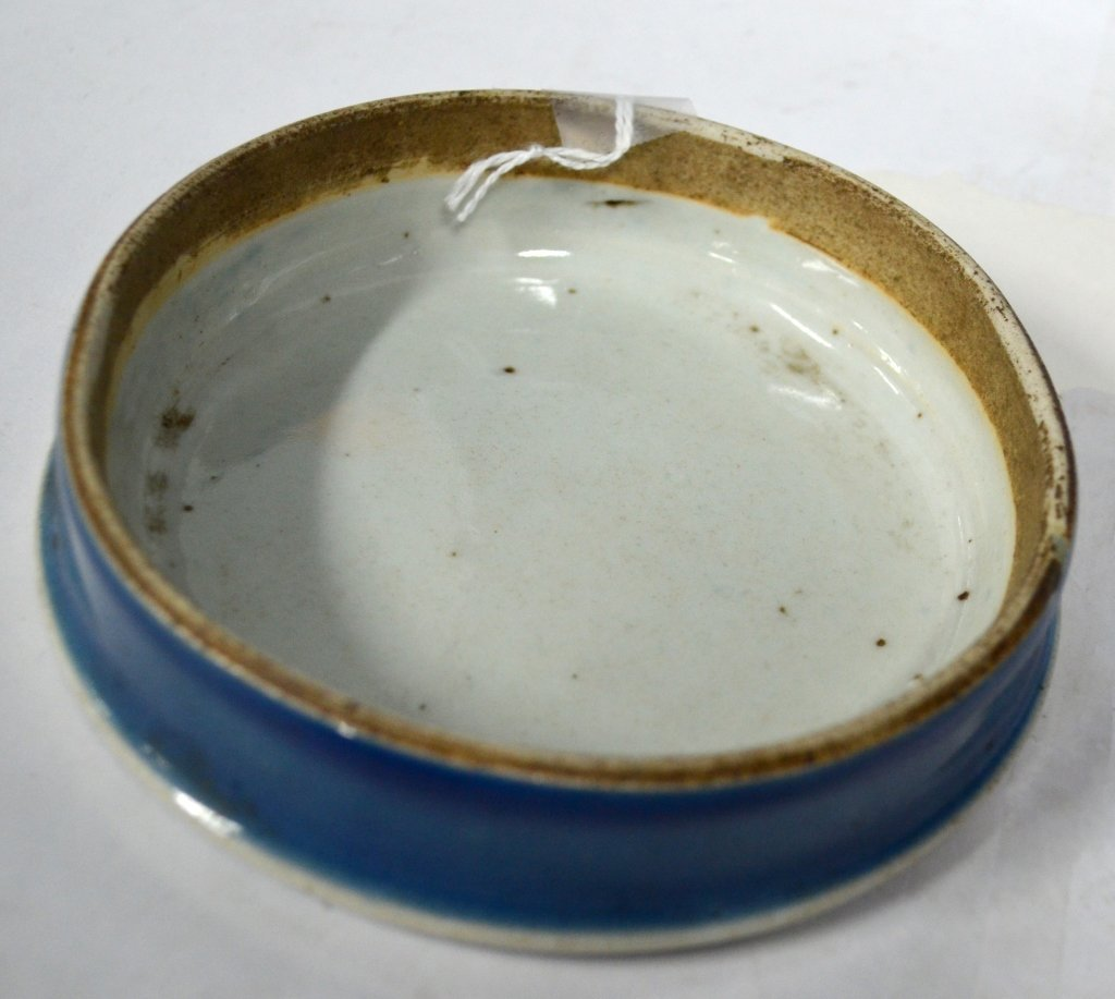 Chinese 19th Century Blue Glazed Porcelain Jar - 3