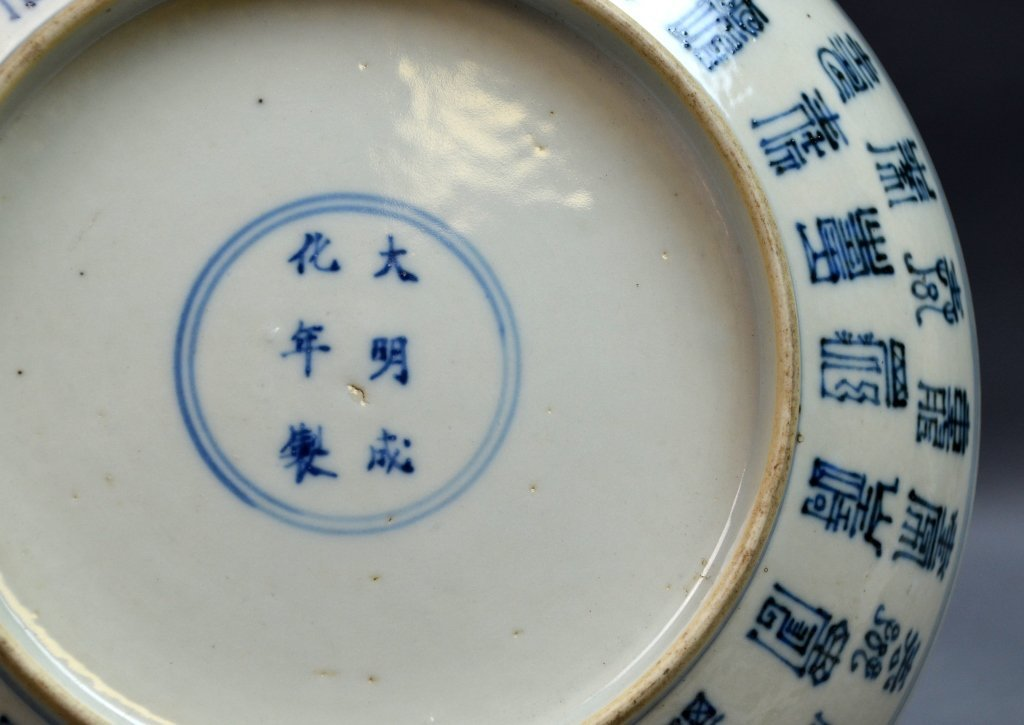 Pair of Chinese Blue and White Porcelain Plates - 6