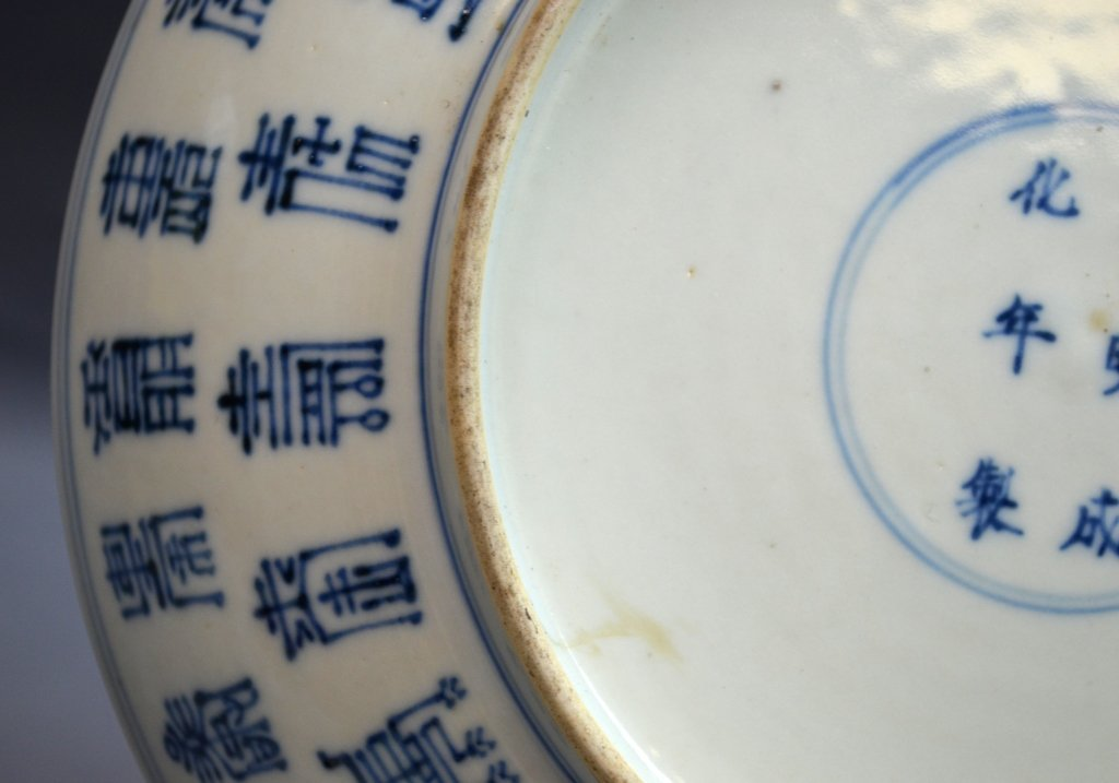 Pair of Chinese Blue and White Porcelain Plates - 7