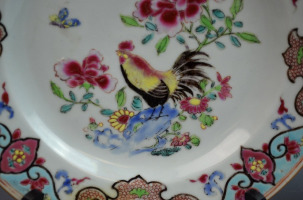 Chinese18th C. Export Famille Rose Porcelain Plate - 4