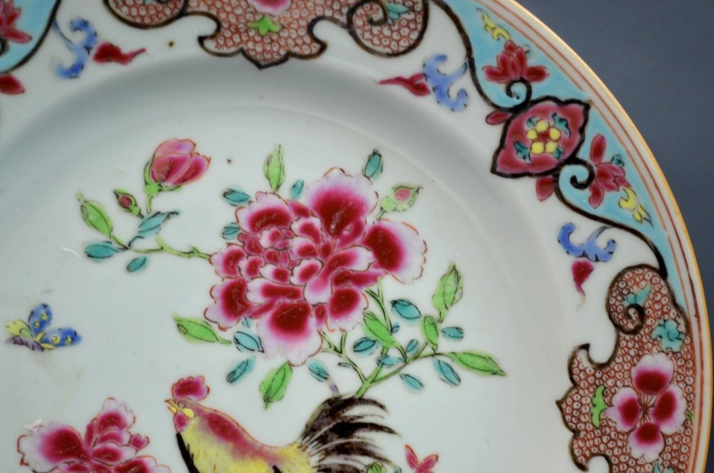 Chinese18th C. Export Famille Rose Porcelain Plate - 5