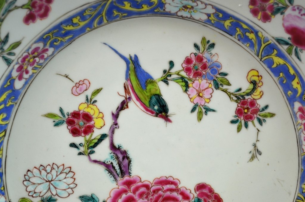 Chinese18th C. Export Famille Rose Porcelain Plate - 2